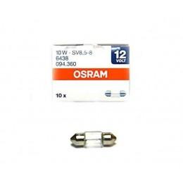 Комплект софитных автоламп Osram 6438 10W SV8.5 10шт.