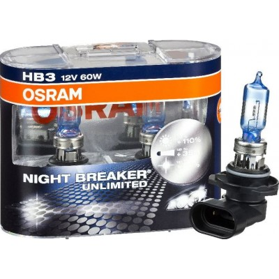 Комплект автоламп Osram 9005NBU NIGHT BREAKER UNLIMITED HB3 2шт