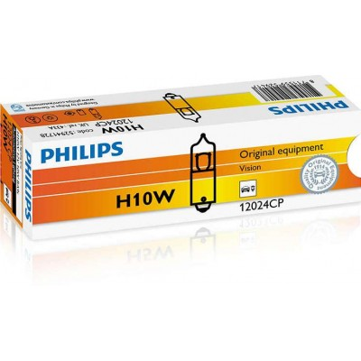 Комплект автоламп галогеновых Philips 12024CP H10W 12V-10W 10шт