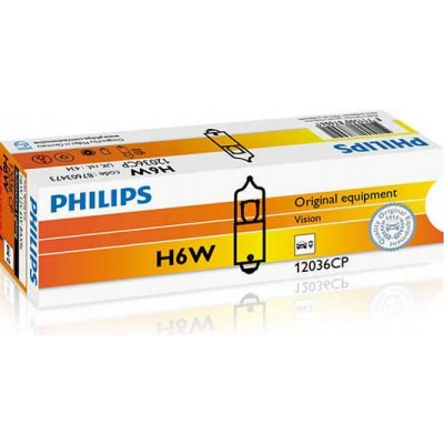 Комплект автоламп Philips 12036CP H6W 10шт
