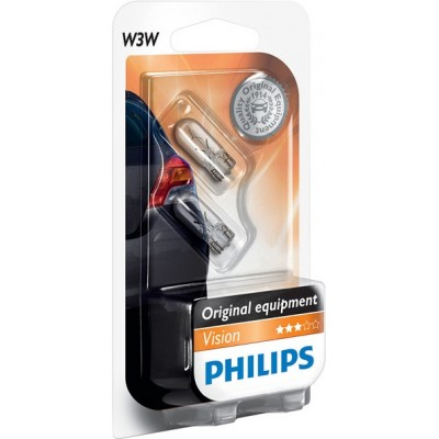 Комплект автоламп Philips 12256B2 W3W 12V 2шт