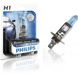 Лампа галогенная PHILIPS 12258BVUB1 H1 12V 55W BLUE VISION ULTRA 4000K