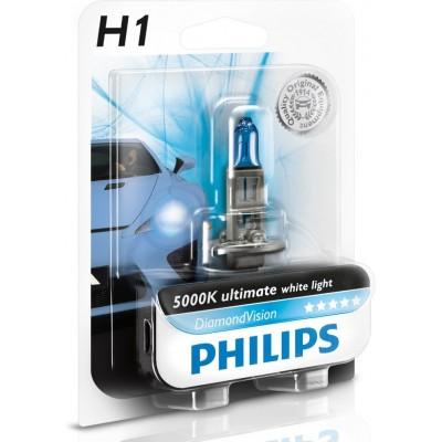 Автолампа PHILIPS 12258DVB1 12V H1  Diamond Vision 5000K