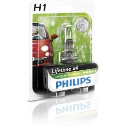 Автолампа PHILIPS 12258LLECOB1 H1 12V 55W LONGLIFE ECOVISION