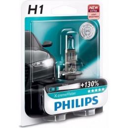 Автолампа PHILIPS 12258XVB1 H1 12V 55W X-treme Vision +130%