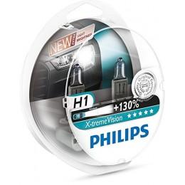 Автолампа PHILIPS 12258XVS2 H1 12V 55W X-treme Vision +130%