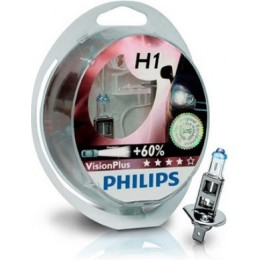 Комплект автоламп PHILIPS 12258VPS2 12V 2xH1 VisionPlus +60%