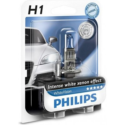 Автолампа PHILIPS 12258WHVB1 H1 12V 55W WhiteVision +60%