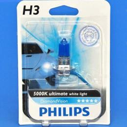 Автолампа PHILIPS 12336DVB1 H3 12V 55W DiamondVision 5000K