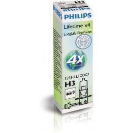 Автолампа PHILIPS 12336LLECOC1 LongLife Eco Vision H3