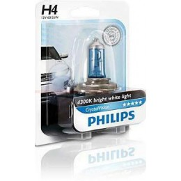 Автолампа Philips 12342CVB1 H4 12V 60/55W Cristal VISION 4300K