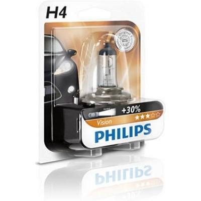 Автолампа PHILIPS 12342PRB1 H4 12V 60/55W PREMIUM +30%
