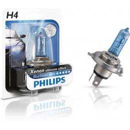 Автолампа Philips 12342BVUB1 H4 12V-60/55W BLUE VISION ULTRA 4000K