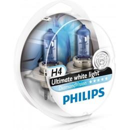 Набор автоламп PHILIPS 12342DVS2 Diamond Vision 12V H4 5000K