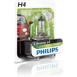 Лампа галогенная PHILIPS 12342LLECOB1 H4 12V 60/55W LONGLIFE ECOVISION