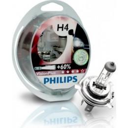 Комплект автоламп PHILIPS 12342VPS2 H4 12V H4 60/55W Vision Plus +60%
