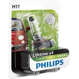 Автолампа PHILIPS 12362LLECOB1 H11 12V 55W LongLife EcoVision