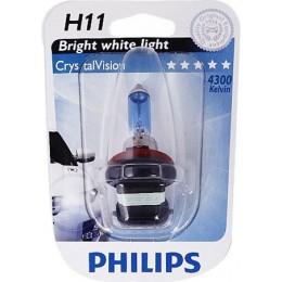 Автолампа PHILIPS 12362CVB1 H11 12V 55W Crystal Vision 4300K