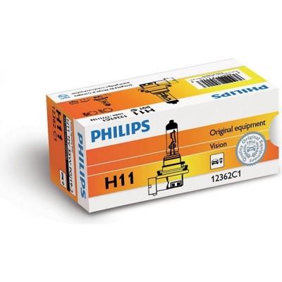 Автолампа PHILIPS 12362PRC1 H11 12V 55W Vision +30%