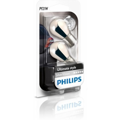 Комплект автоламп PHILIPS 12496SVS2 12V-21W (BAU15s) 2шт