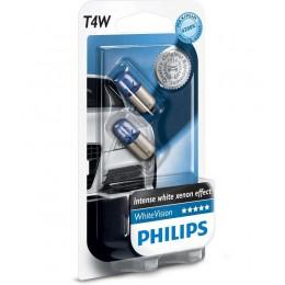 Комплект автоламп PHILIPS 12929NBVB2 T4W 12V-4W (BA9s) 2шт.