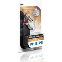 Комплект автоламп PHILIPS 12929B2 T4W 12V-4W (BA9s) 2шт.