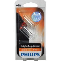 Комплект автоламп PHILIPS 12961B2 W5W 12V-5W 2шт.