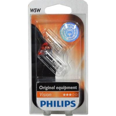 Комплект автоламп PHILIPS 12961B2 W5W 12V-5W 2шт
