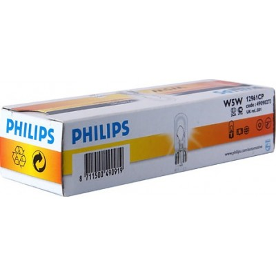 Комплект автоламп PHILIPS 12961CP W5W 12V-5W 10шт