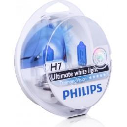 Набор автоламп PHILIPS 12972DVS2 Diamond Vision H7 12V 5000K