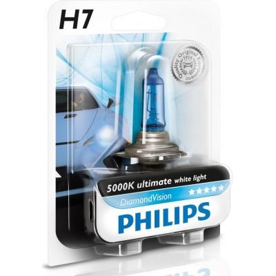 Автолампа PHILIPS 12972DVB1 Diamond Vision H7 12V 5000K
