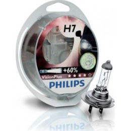 Набор автоламп PHILIPS 12972VPS2 H7 12V-55W +60%