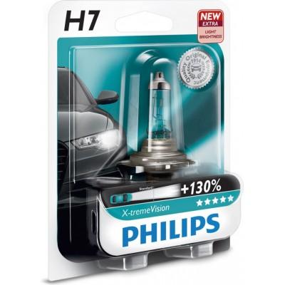 Автолампа PHILIPS 12972XVB1 H7 12V 60/55W X-Treme Vision +130%