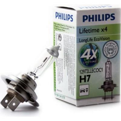 Автолампа PHILIPS 12972LLECOC1 H7 12V 55W PX26D LONGLIFE ECOVISION