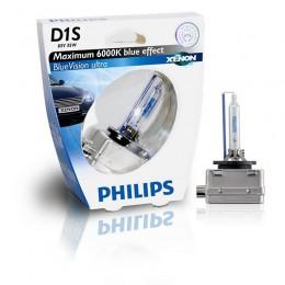 Лампа газоразрядная PHILIPS 85415BVUS1 D1S 85V 35W PK32D-2 BlueVision Ultra 6000K