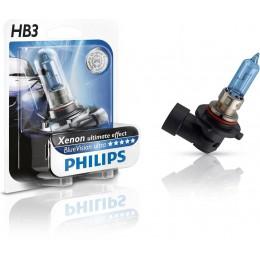 Автолампа 9005BVUB1 PHILIPS HB3 12V 65W P20D Blue Vision Ultra