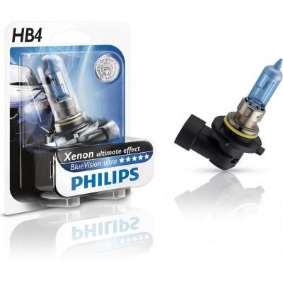 Автолампа PHILIPS 9006BVUB1 HB4 12V 55W Blue Vision ultra