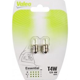 Комплект автоламп Valeo 032130 T4W 12V 2шт.