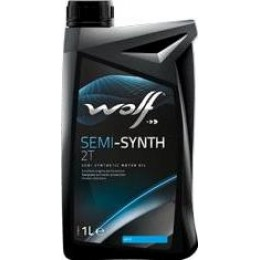 Полусинтетическое двухтактное моторное масло WOLF SEMI-SYNT 2T 1л