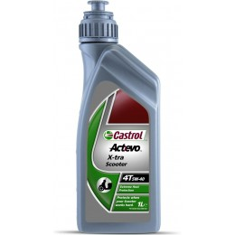 Моторное масло Castrol ACT> EVO X-TRA SCOOTER 4T 5W-40 1л
