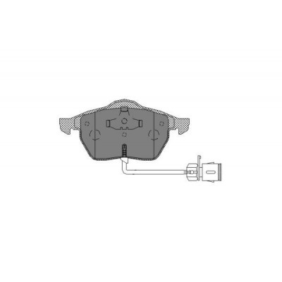 Колодки тормозные дисковые передние SCT SP178